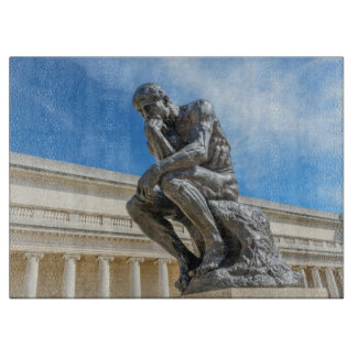 Rodin Thinker Statue Cutting Board