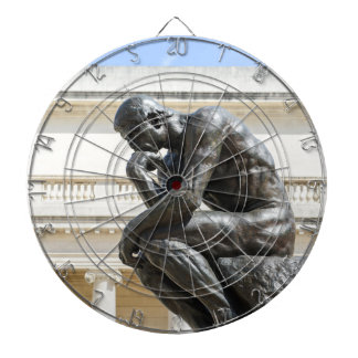 Rodin Thinker Statue Dartboard