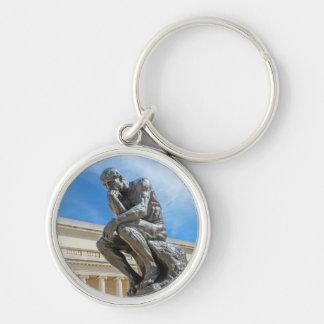 Rodin Thinker Statue Keychain