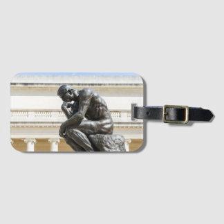 Rodin Thinker Statue Luggage Tag