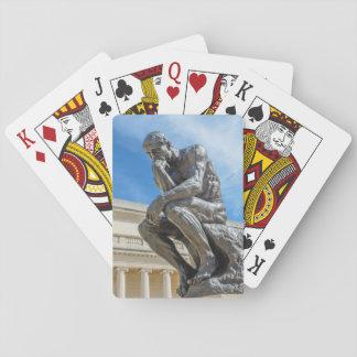 Rodin Thinker Statue Playing Cards