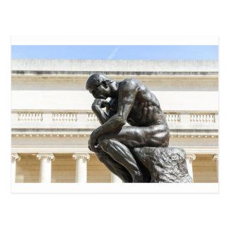 Rodin Thinker Statue Postcard