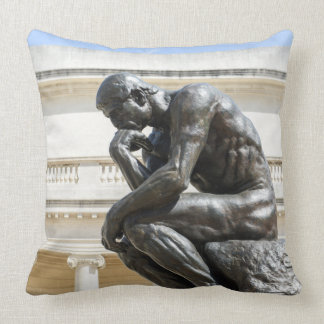 Rodin Thinker Statue Throw Pillow