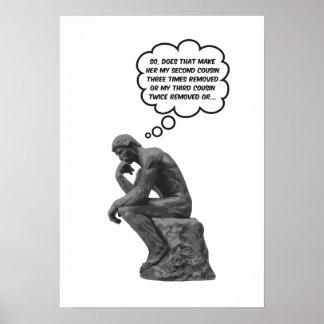 Rodin's Thinker - Cousins Poster