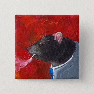 Rodney the Rat - business suit smoking unique art 2 Inch Square Button