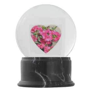 Rododendron Heart Snow Globe