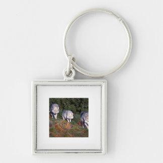 Roe Deer Buck Keychain