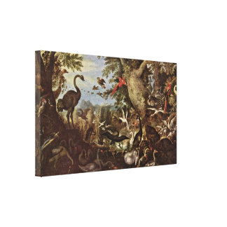 Roelant Savery - Birds in a Landscape Stretched Canvas Print