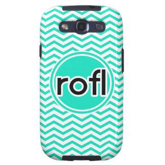 rofl Aqua Green Chevron Samsung Galaxy S3 Covers