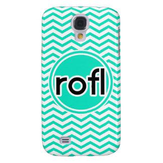 rofl Aqua Green Chevron Samsung Galaxy S4 Covers