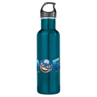 ROFL Captain America Emoji 710 Ml Water Bottle