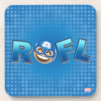 ROFL Captain America Emoji Coaster