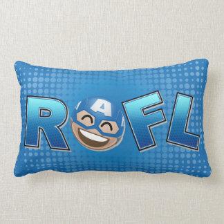 ROFL Captain America Emoji Lumbar Pillow