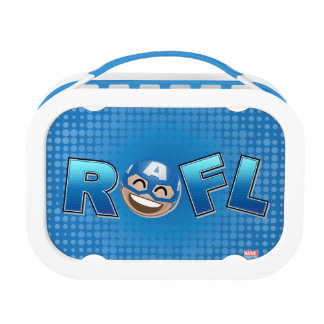 ROFL Captain America Emoji Lunch Box
