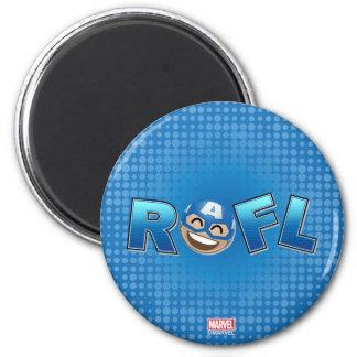 ROFL Captain America Emoji Magnet