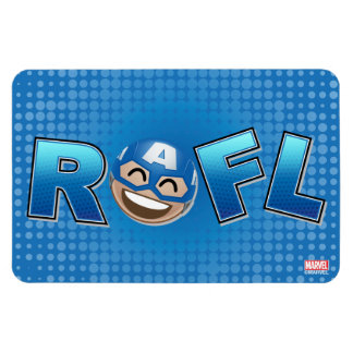 ROFL Captain America Emoji Rectangular Photo Magnet