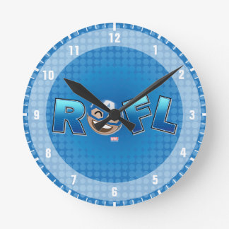 ROFL Captain America Emoji Round Clock