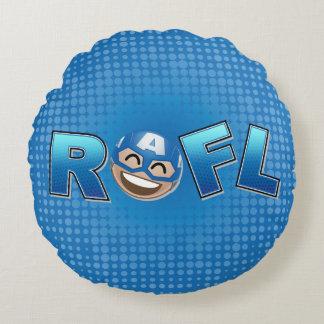 ROFL Captain America Emoji Round Pillow