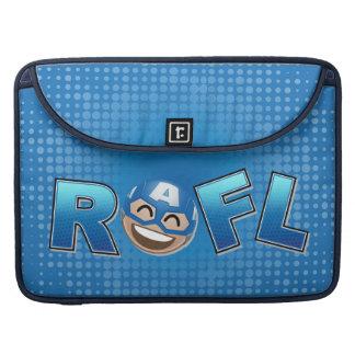 ROFL Captain America Emoji Sleeve For MacBook Pro