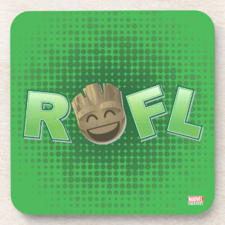 ROFL Groot Emoji Coaster