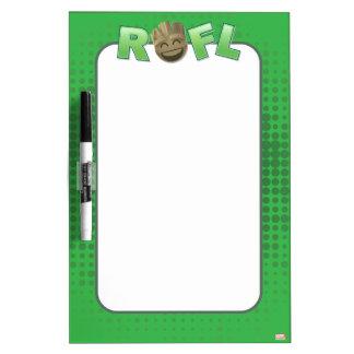 ROFL Groot Emoji Dry Erase Board