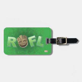 ROFL Groot Emoji Luggage Tag
