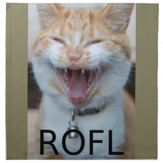 ROFL Laughing Kitty Cat Napkin