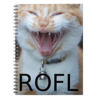 ROFL Laughing Kitty Cat Notebook