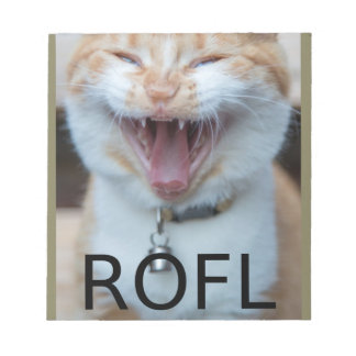 ROFL Laughing Kitty Cat Notepad