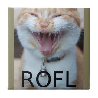 ROFL Laughing Kitty Cat Tile