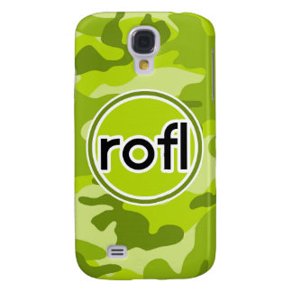 rofl Lime Green Camo Camouflage Samsung Galaxy S4 Covers