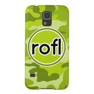 rofl Lime Green Camo Camouflage Cases For Galaxy S5