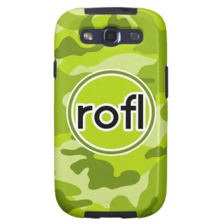 rofl Lime Green Camo Camouflage Galaxy S3 Cover