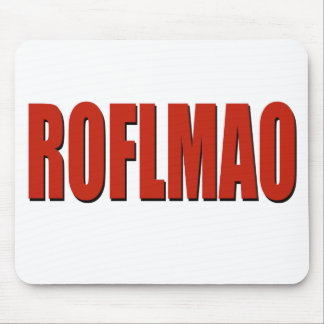 ROFLMAO RED MOUSE PAD