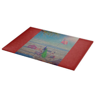 Roger and The American Flag Wildlife Cutting Board