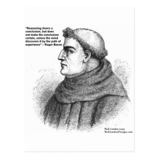 Roger Bacon & Experience Quote Gifts Tees & Cards
