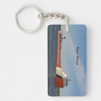 Roger Blough rectangle acrylic key chain