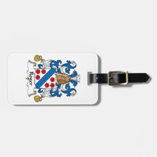 Roger Family Crest Luggage Tag