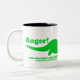 ROGERS LAKE MONSTER Two-Tone COFFEE MUG