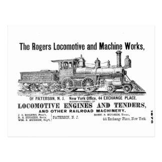 Rogers Locomotive Works Postcard