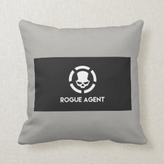 Rogue agent hunter throw pillow