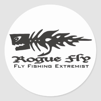 Rogue Fly, Fly Fishing ... Classic Round Sticker