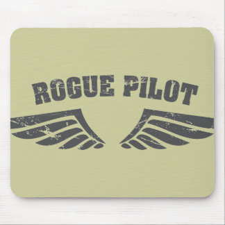 Rogue Pilot Wings Mouse Pad