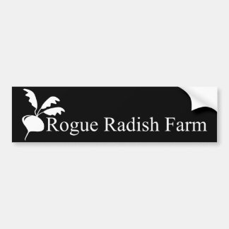 Rogue Radish Farm Black Bumper Sticker