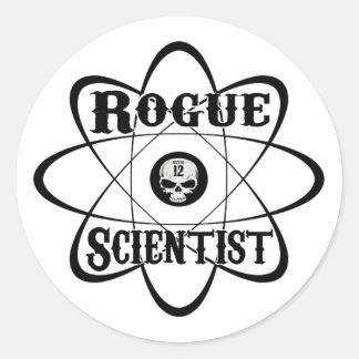 rogue scientist classic round sticker