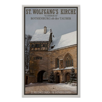 Rohenburg od Tauber - St Wolfgangs Church Poster