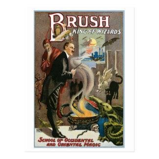 Roi de ~ de brosse de Loi magique vintage de magic Carte Postale
