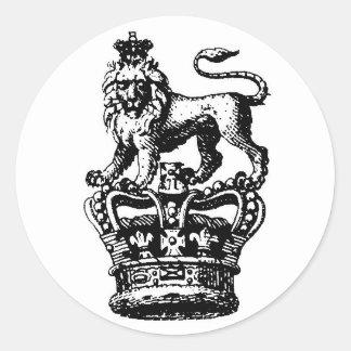 ROI DE LION ROUND STICKER