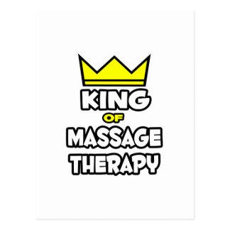 Roi de thérapie de massage cartes postales