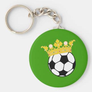 Roi Fußball king plus soccer Porte-clé Rond